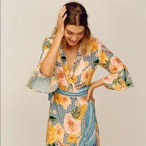 L Farm Rio for Anthropologie Camila Wrap Dress
